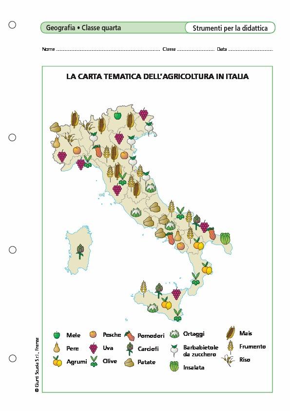 Cartina Italia Tematica.La Carta Tematica Dell 39 Agricoltura In Italia La Carta Tematica Dell 39 Agricoltura In Italia Giunti Scuola