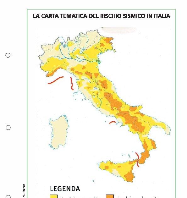 Cartina Tematica Spagna.La Carta Tematica Del Rischio Sismico In Italia La Carta Tematica Del Rischio Sismico In Italia Giunti Scuola