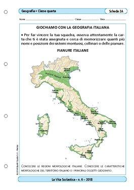 Cartina Italia Pianure.Giochiamo Con La Geografia Italiana Giochiamo Con La Geografia Italiana Giunti Scuola