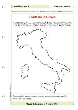 Cartina Politica Dell Italia Da Colorare.L 39 Italia Da Colorare L 39 Italia Da Colorare Giunti Scuola